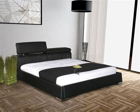 angel beds angel bed in black half leather by casabianca
