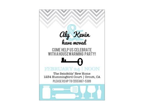 printable invitations housewarming items similar to printable housewarming party invitation