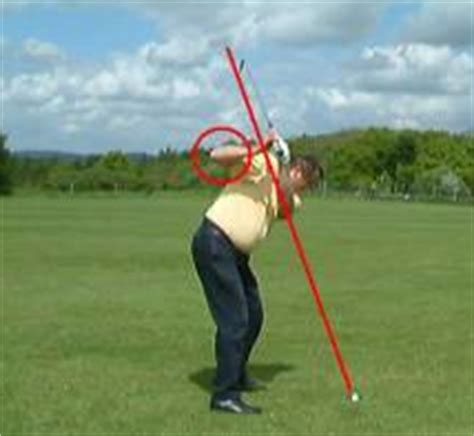 flying right elbow golf swing over 50 golfer golf flexibility to correct the common