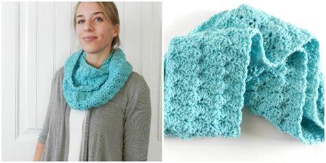 free pattern infinity scarf crochet grow creative blog free shell infinity scarf pattern