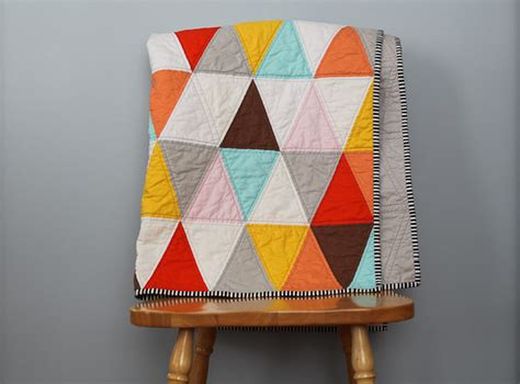 Triangle Quilts by Blue Is Bleu Triangle Quilt