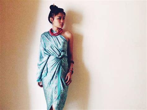 Anika Cheongsam Batik Dress ethnic batik wrap dress fashion in batik