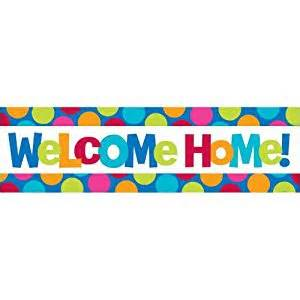 welcome home banner 1 x welcome home sign banner toys