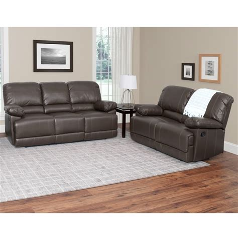 brown sofa sets 2 piece leather reclining sofa set in brown lzy 321 z2