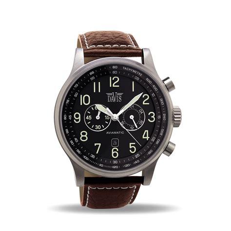 s aviator chronograph waterresist 50m brown