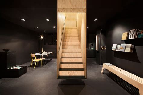 home design store berlin a floating staircase defines interior of bazar noir by