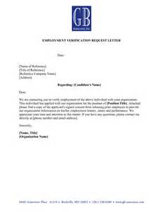 employment verification letter template doc employment letter exles