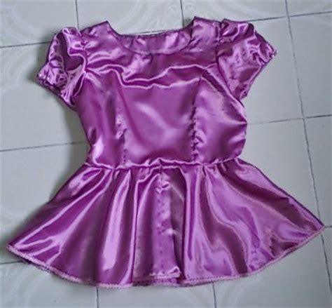 Print Cut Princess Academy pink satin princess cut peplum blouse sewing projects