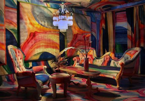 famous bedroom painting artist completely wraps rooms with famous paintings haha