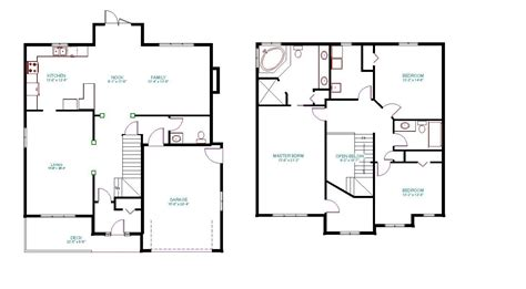 2 floor plans two story house plans with master on second floor amazing
