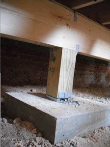 post with cement footing carpentry concrete post and beam foundation pictures to pin on