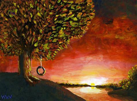 tire swing painting the tire swing painting by brett winn