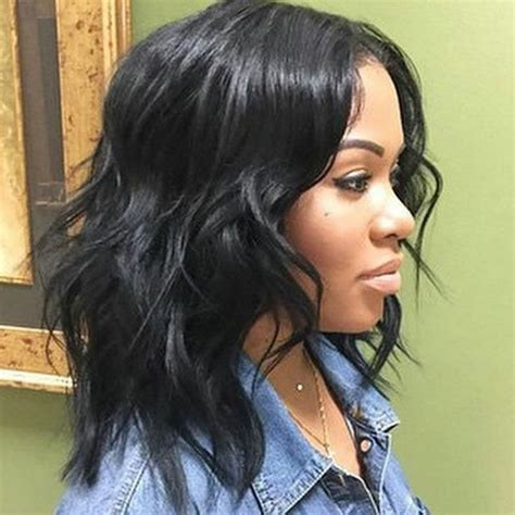 wet and wavy bob styles for black women 25 best ideas about medium length weave on pinterest
