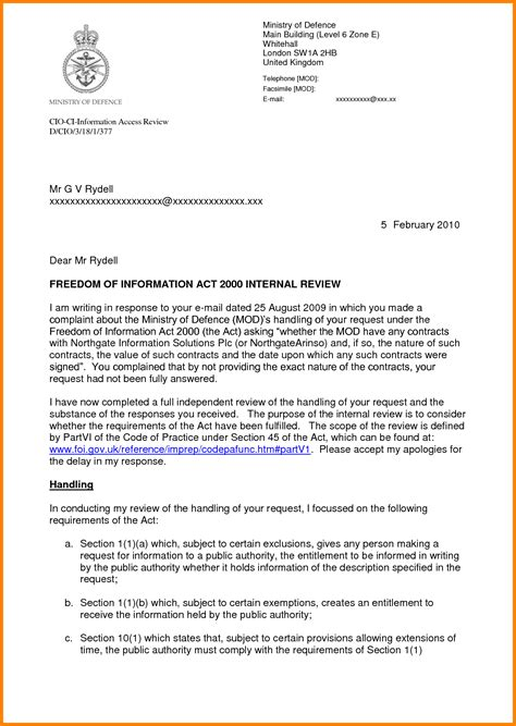 Official Letter Sle Of An Official Letter Images