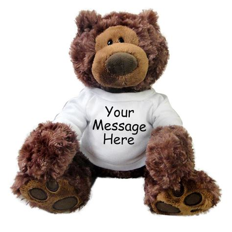 personalized teddy bear gund philbin bear chocolate brown