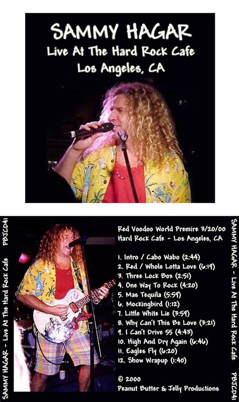 Vcd Tequila maniac paul s bootlegs sammy hagar live at the
