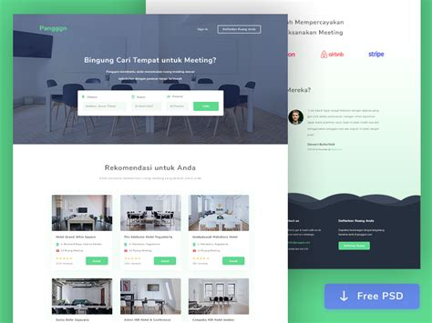 Meeting Room Booking Web Design Psd Psd Website Templates Free 2017