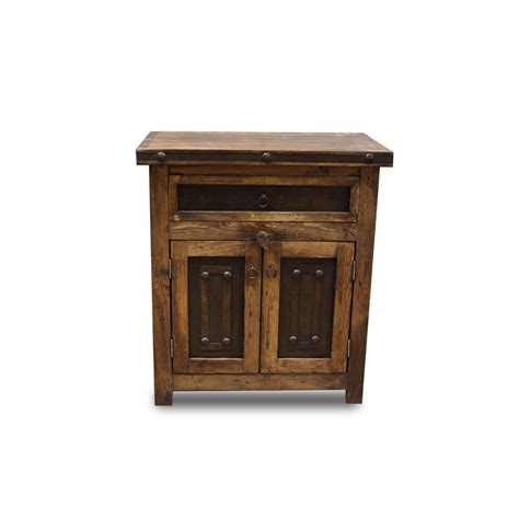 purchase small reclaimed vanity with metal accents