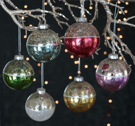 antiqued two tone christmas ornaments the weed patch