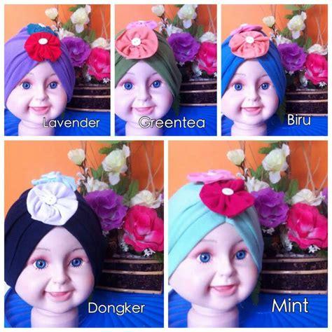 Jilbab Bayi 5 Bulan jual turban bayi anak topi bayi anak jilbab bayi anak