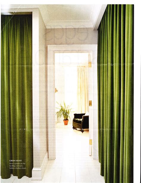 green velvet curtains green velvet drapes line a hall in elliott puckette s