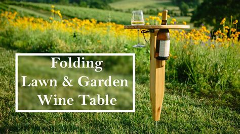 portable wine table plans building a folding wine table