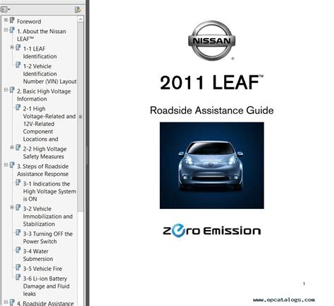 small engine service manuals 2011 nissan leaf instrument cluster nissan leaf model ze0 series 2011 service manual pdf