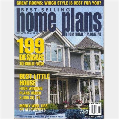 best selling home plans best selling home plans april 1998 from home magazine 199