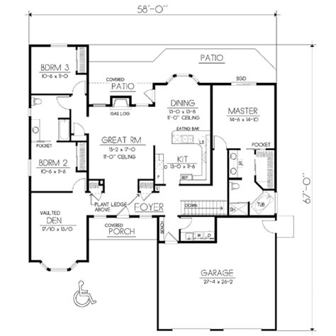 100 sq ft house plans traditional style house plan 3 beds 2 baths 2135 sq ft