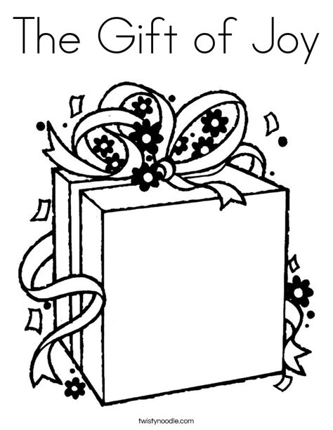 The Gift Of Joy Coloring Page Twisty Noodle Joys Coloring Pages Page