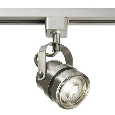 led track lighting shop project source 1 light dimmable brushed nickel gimbal