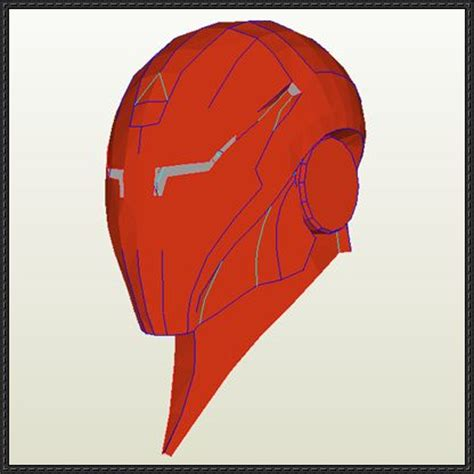 Iron Papercraft Helmet - this papercraft is a iron extremis helmet shared by