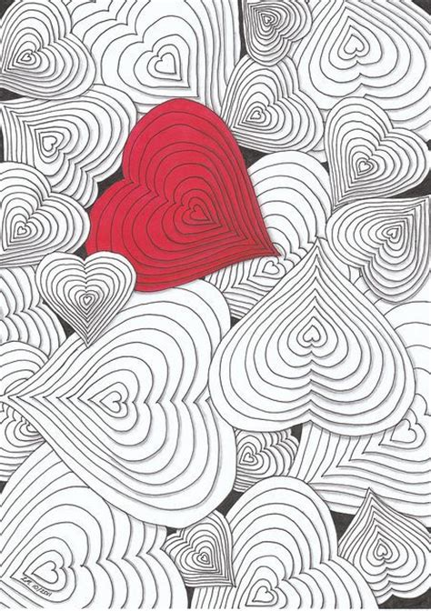 doodle 4 gra z woå p 100 ideas to try about zentangle valentines shape and
