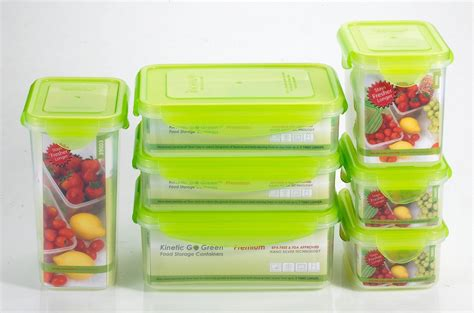 kinetic go green premium nanosilver food storage container - Green Food Storage Containers