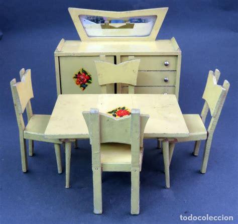comedor casa munecas muebles madera pintada den comprar