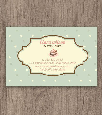 pastry chef business card templates pastry chef business card customized template by