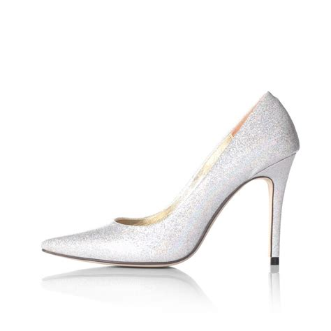 High Heels Corpus Silver silver closed toe high heels qu heel
