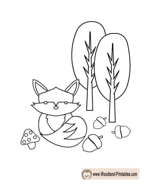 printable coloring pages woodland animals woodland free colouring pages