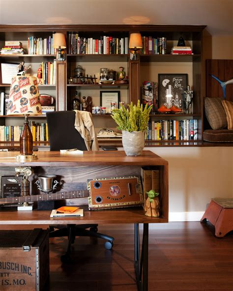 Home Office Design Masculine Cave Home Office Eclectic Home Office Los