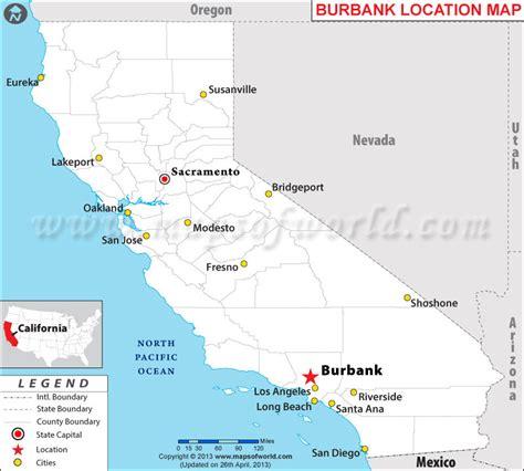 map of burbank ca where is burbank california
