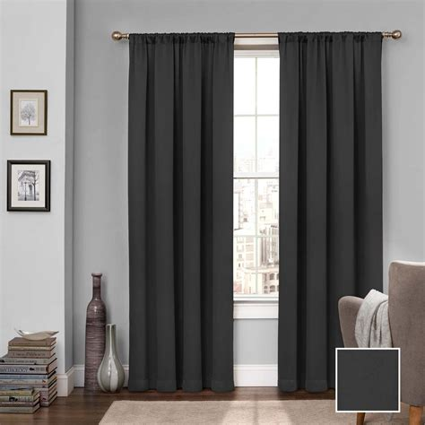 black eclipse curtains solaris semi opaque black media back tab curtain 1622299