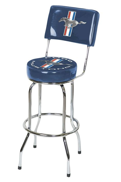 Deere Stool With Backrest by Ford Motor Company Ford Mustang Bar Stool With Backrest