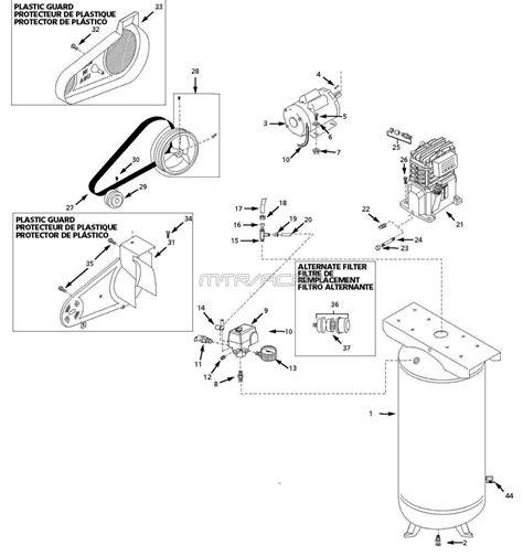husky vtaj air compressor parts