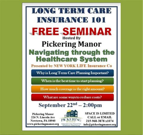 term care insurance made simple books monthly newsletter pickering manor