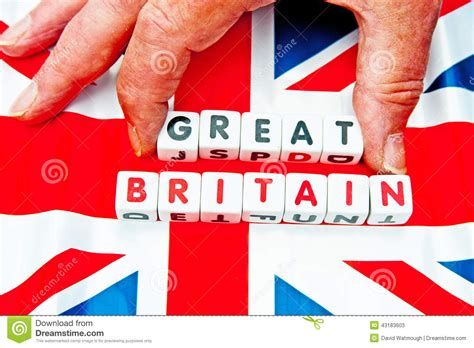up letter to great britain taking great out of great britain stock photo image