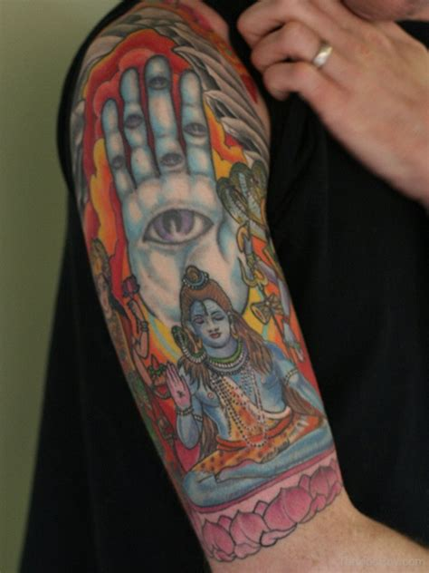 colorful half sleeve tattoos for men shiv tattoos designs pictures page 3