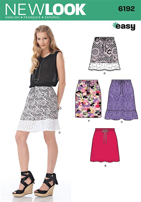 pattern review best of 2013 new look 6192 misses skirt