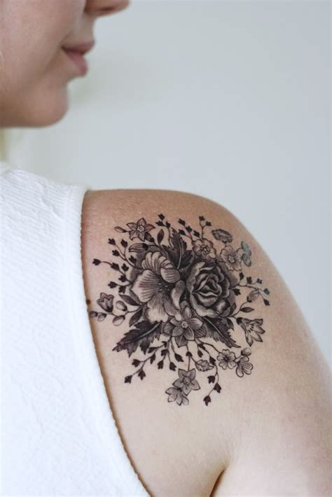 temporary rose tattoo large vintage floral temporary temporary tattoos