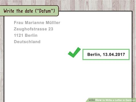 mysql format date german 3 ways to write a letter in german wikihow