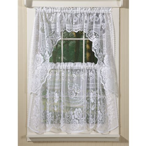 lace curtains garden of joy beautiful country style curtains in rosy lace country